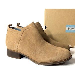 Toms Deia Women's Brown Suede Booties